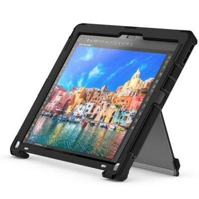 "Griffin Survivor Slim Case for 12.9"" Tablet Microsoft Surface Pro 4 in Black. All the durable protection you need for you tablet. Comes with a kick stand and a screen protector. Protect your tablet from drops, scratches and smudges. Shipped within Canada."