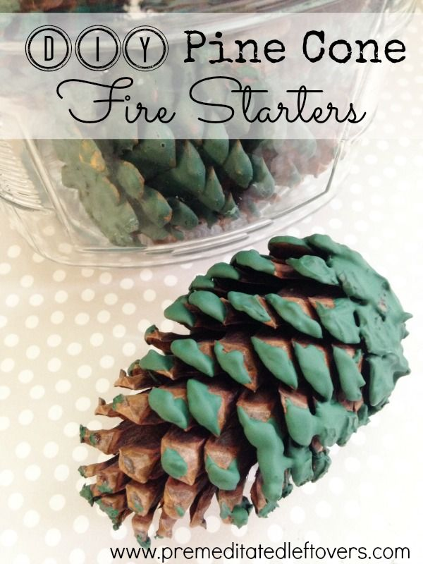 DIY Pine Cone Fire Starters - How to make DIY pine cone fire starters using just pine cones and old crayons. They are perfect for campfires and bonfires.