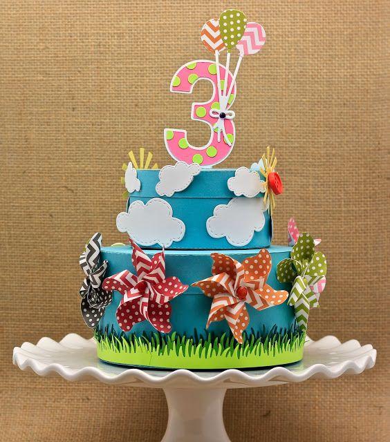 Lil Inker, Pinwheels, birthday 3-d cake