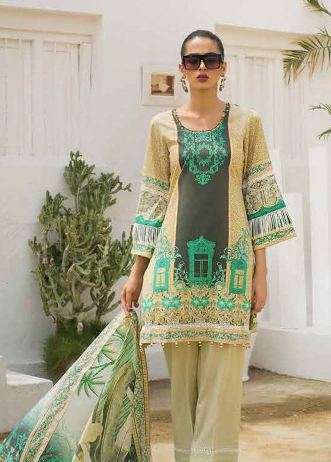 184588076c Al Zohaib Printed Lawn Unstitched 3 Piece Suit AZC19L 8B - Spring / Summer  Collection