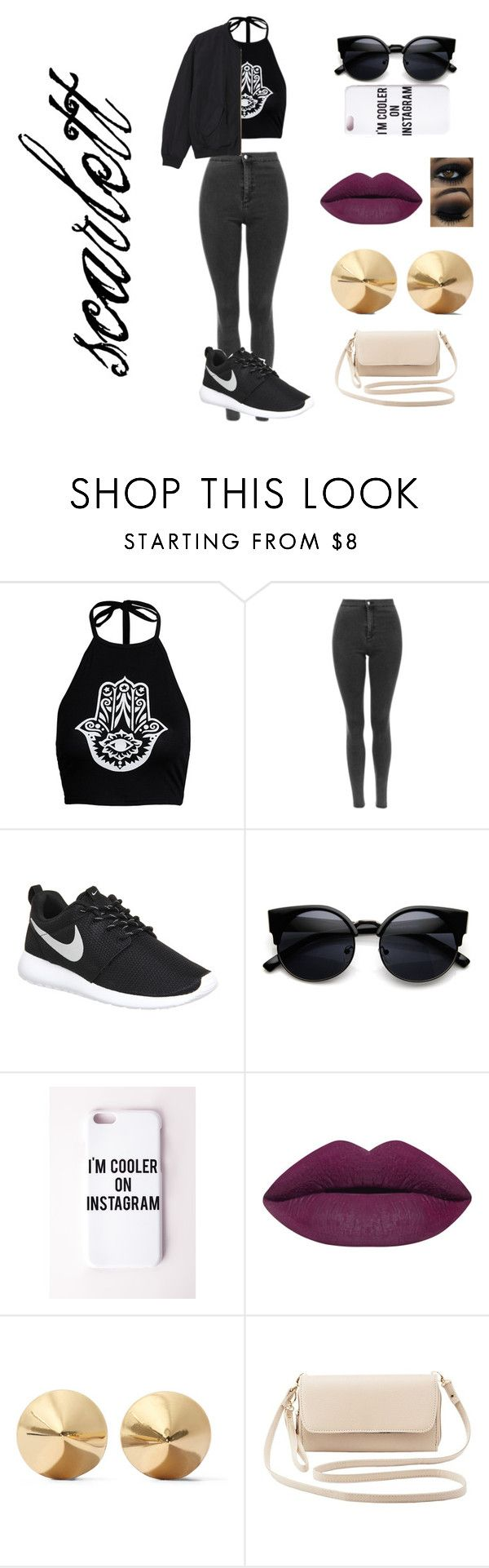 """wattpad story outfit"" by lauraederveen on Polyvore featuring mode, NIKE, Missguided, Eddie Borgo, Charlotte Russe, Monki, women's clothing, women, female en woman"