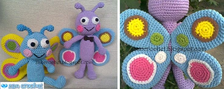 Amigurumi Butterfly Tutorial : 1000+ images about Amigurumi on Pinterest Free pattern ...