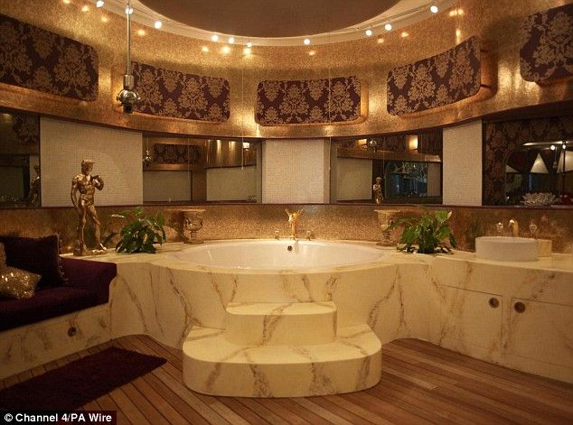 Bathroom at Celebrity Big Brother's  'Chav palace': Bathroom Design, Marbles Bathroom, Luxury Bathroom, Bathroom Fit, Carousels Hors, Dreams House, Dreams Bathroom, Greek Style, Master Bathroom