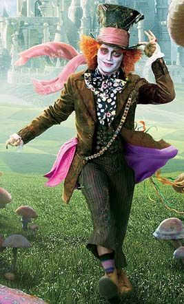 *MAD HATTER ~ Tim Burton's: Alice in Wonderland, 2010..  Starring Johnny Depp