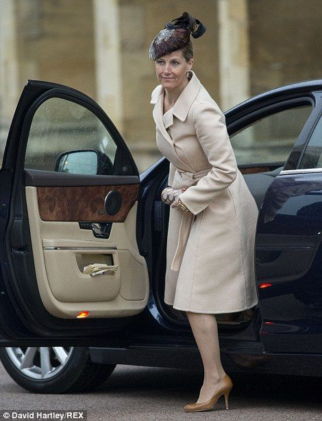 Sophie, Countess of Wessex arrives at the Easter service... http://dailym.ai/1iB6C1A#i-a8590e60