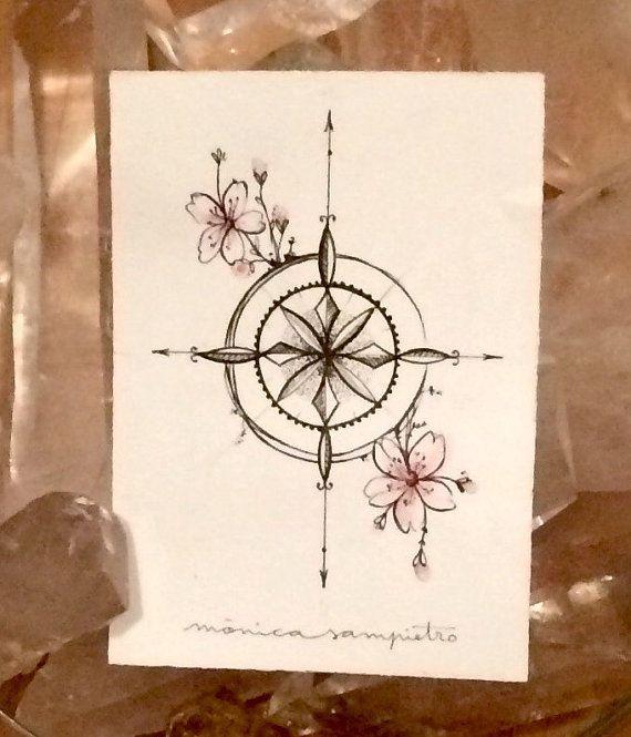 Art Tattoo Original Sheet in ink Rosa de los by CreatedInBCN