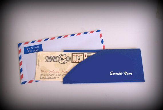 Flight Ticket Wedding Invitation Per Avion by podko on Etsy