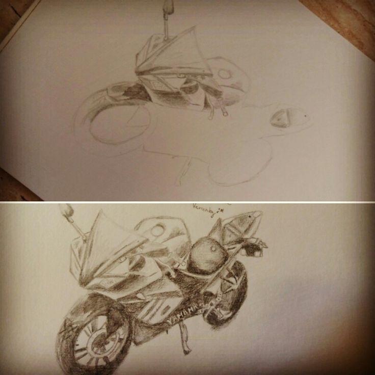 Draw motorbike