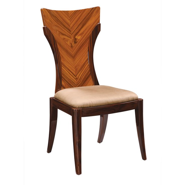 USA Global Furniture Wood And Faux Leather High Gloss Dining Chair Wenge