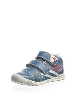 67% OFF Romagnoli Kid's Hook-and-Loop Sneaker (Petroleum)