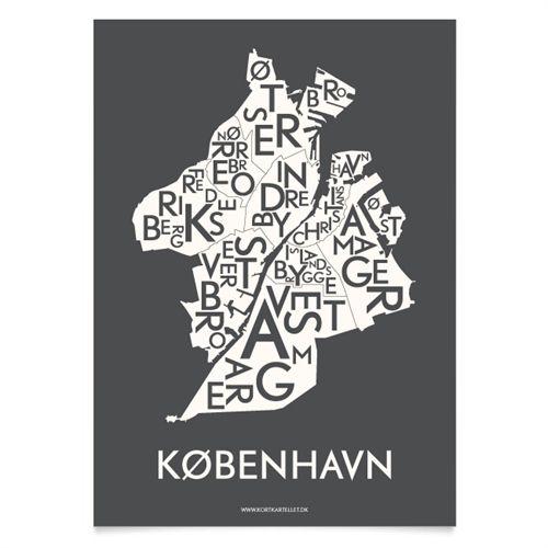 Via Kortkartellet | Copenhagen / København Print