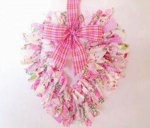 valentine's day fabric wreath!