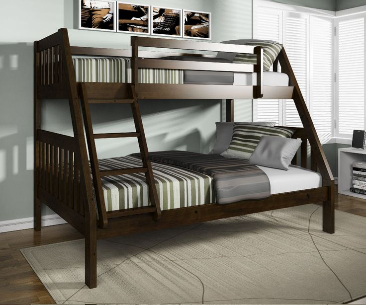 Pinehurst Twin Over Full Bunk Bed, Espresso Finish. At HOM Furniture