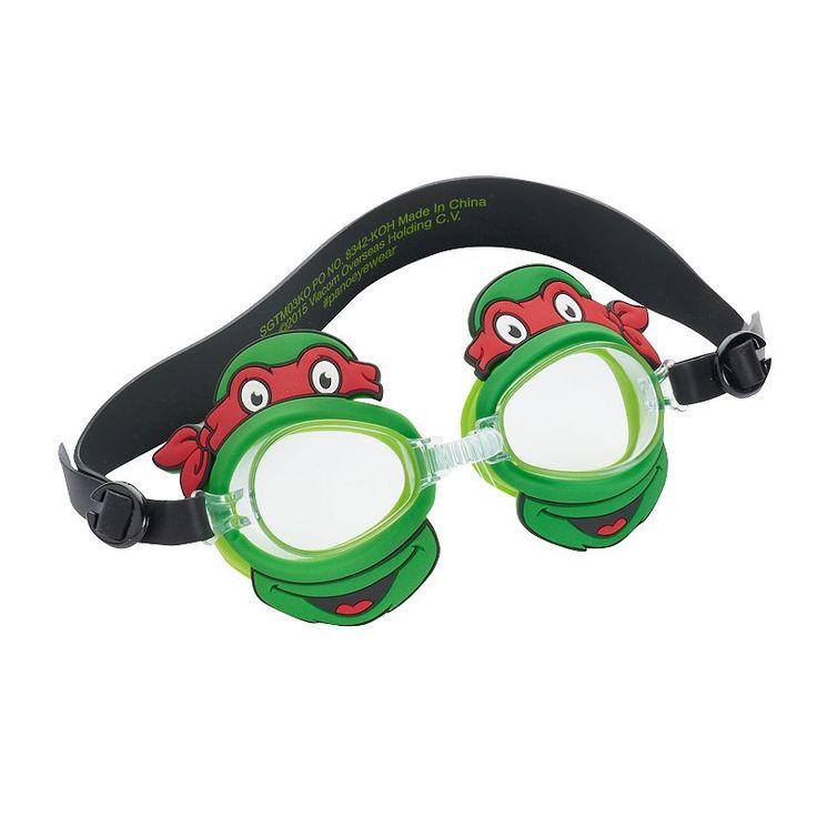Kids Teenage Mutant Ninja Turtles Raphael Swim Goggles, Multicolor