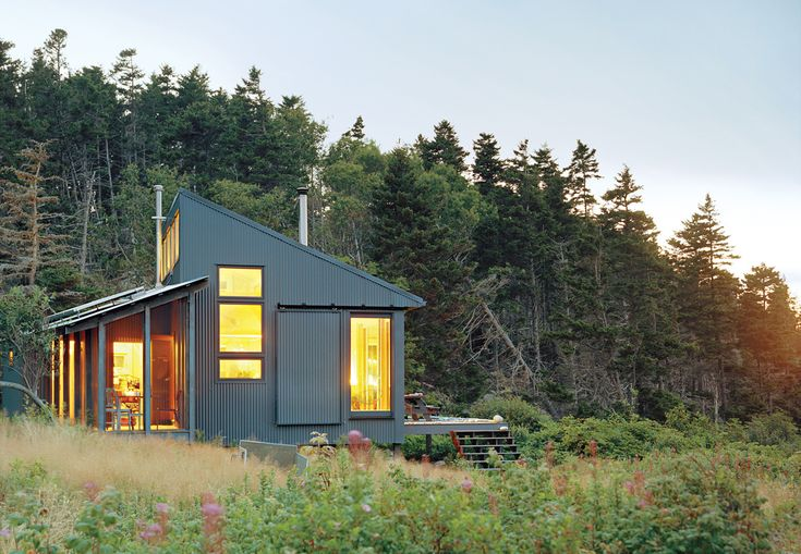 On an island 20 miles off the coast of Maine, a writer, with the help of his daughter, built not only a room but an entire green getaway of his own.
