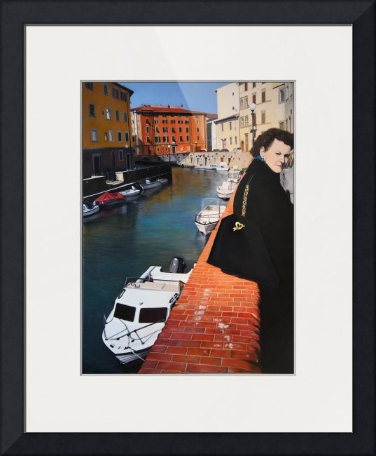 """""""Manola in Livorno"""" by Matthew Bates, Firenze, Italy // Manola in LivornoOil on Canvas - 80cm x 110cm©2010, Matthew Bates, All Rights Reserved // Imagekind.com -- Buy stunning fine art prints, framed prints and canvas prints directly from independent working artists and photographers."""