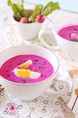 chłodnik z botwinki - beetleaves cold soup