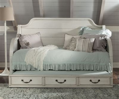 ★ Buy our Twin Size Daybed with Trundle from the Hancock Park collection crafted by Magnussen Home Furniture ★ The Hancock Park Collection Y3681-59 Daybed is an antique inspired classic that offers a beautiful distressed finish.