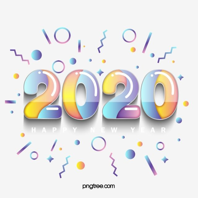 Memphis Geometry 2020 Gradient Texture Font 2020 Memphis Gradient Png And Vector With Transparent Background For Free Download New Year Typography Happy New Year Images New Year Images