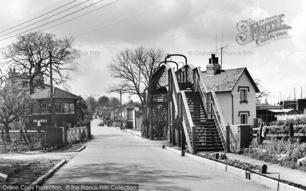 Burgess Hill, Keymer Crossing 1966, from Francis Frith