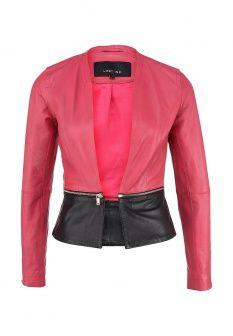 Куртка кожаная LOST INK., цвет: розовый. Артикул: LO019EWDCV89. Женская одежда / Верхняя одежда / Кожаные куртки