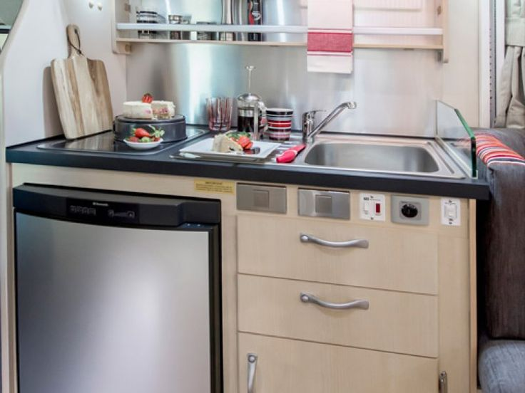 The Leura is self contained and has a tidy kitchen setup for your cooking needs while enjoying the RV lifestyle.