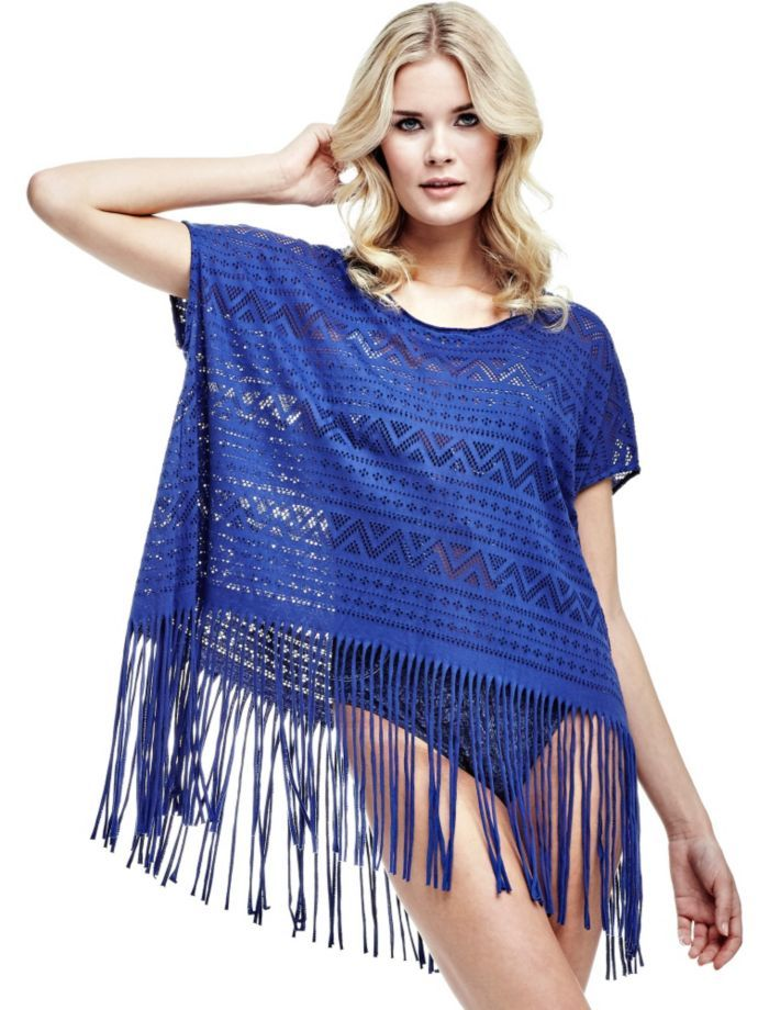 EUR59.00$  Watch now - http://vidmt.justgood.pw/vig/item.php?t=yrifu2451945 - EMBROIDERED PARADISE FRINGED DRESS