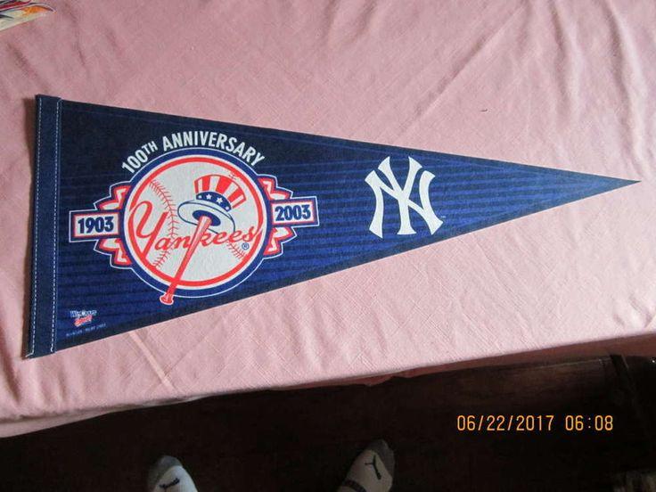 2003 Yankees 100th anniversary baseball pennant
