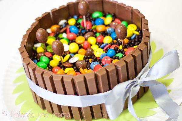 Tarta KitKat, Lacasitos, M&M's y Nutella