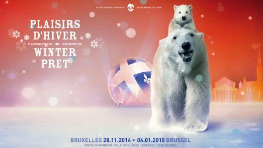 Wnterpret en kerstmarkt 2014! Winterpret en de kerstmarkt van Brussel vinden plaats op de Grote Markt en rond de Beurs, op het Muntplein, op het Sint-Katelijneplein en op de Vismarkt van 28 november 2014 tot en met 4 januari 2015. De Kerstmarkt van Brussel is zeker een bezoekje waard, hier vind je de verschillende kraampjes, draaimolen, reuzenrad en maak je een prachtige lichtspel mee op de Grote Markt!