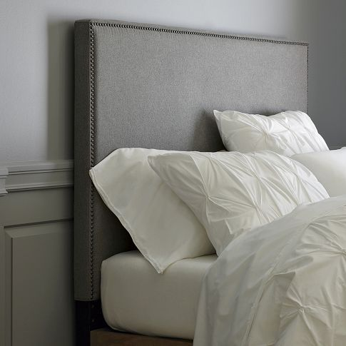 West Elm Nailhead Headboard. For the DS's rooms in twin size. Later, both beds will go together in a guest room.