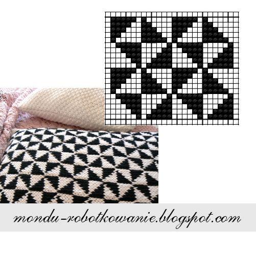 MonDu .robótkowanie.: ...poduchy black&white...