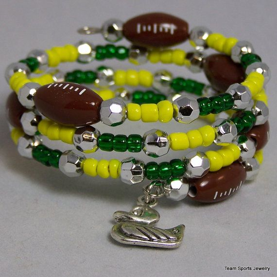 Football Bracelet Football Jewelry NFL by TeamSportsJewelry