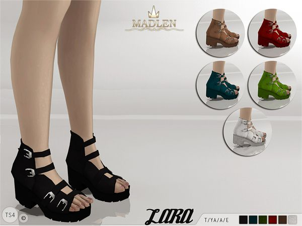 The Sims Resource: Madlen Lara Sandals by MJ95 • Sims 4 Downloads