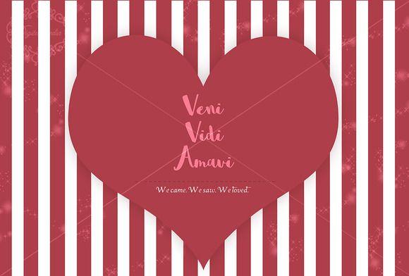 Veni Vidi Amavi template by digitalopedia on Creative Market
