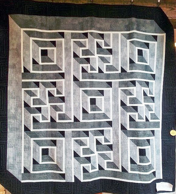 Optical Illusion Quilt Shown At The Annual PVQG Quilt Show