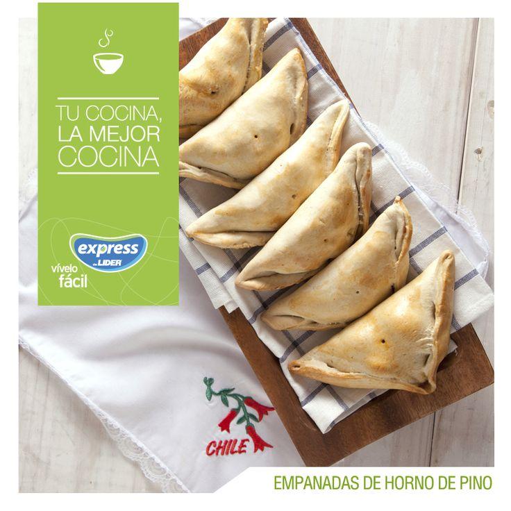 Empanadas de horno de pino. #Recetario #Receta #RecetarioExpress #Lider #Food #Foodporn #18Septiembre #Feliz18 #18 #FiestasPatrias #Septiembre