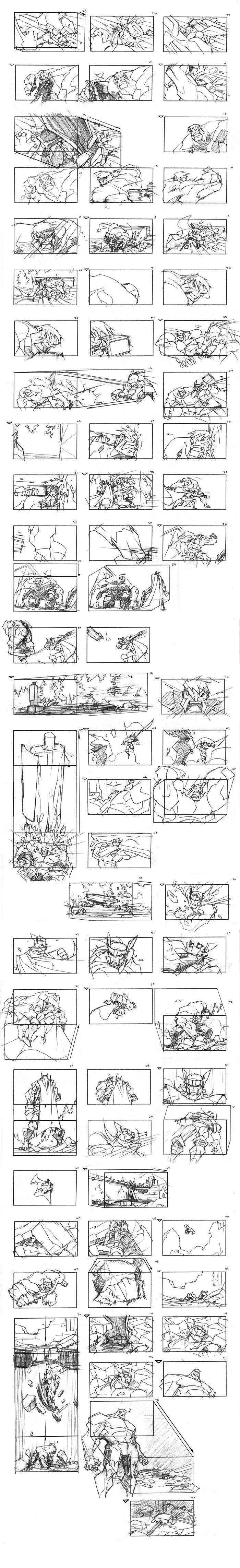 Thor Storyboard Pt. 2 by samliu on deviantART