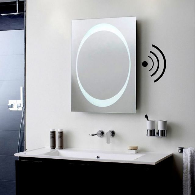 Crosswater Bauhaus Revive 1 0 Led Mirror With Bluetooth Speakers Bathroom Speakers Led Mirror Mirror