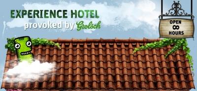 Grolsch a creat Experience Hotel, un spatiu in care 14 experimentalisti isi vor testa creativitatea nealterata de timp. http://www.iqads.ro/advertorial/experience_hotel_locul_in_care_creativul_se_bate_cu_timpul.html