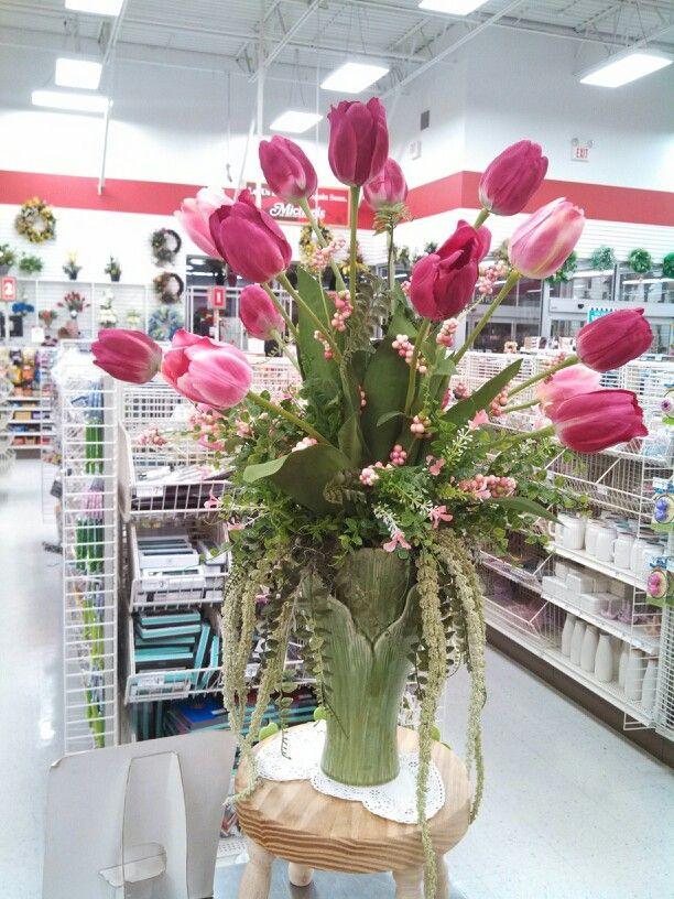 Spring Tulip Floral Arrangement At Michaels Flower