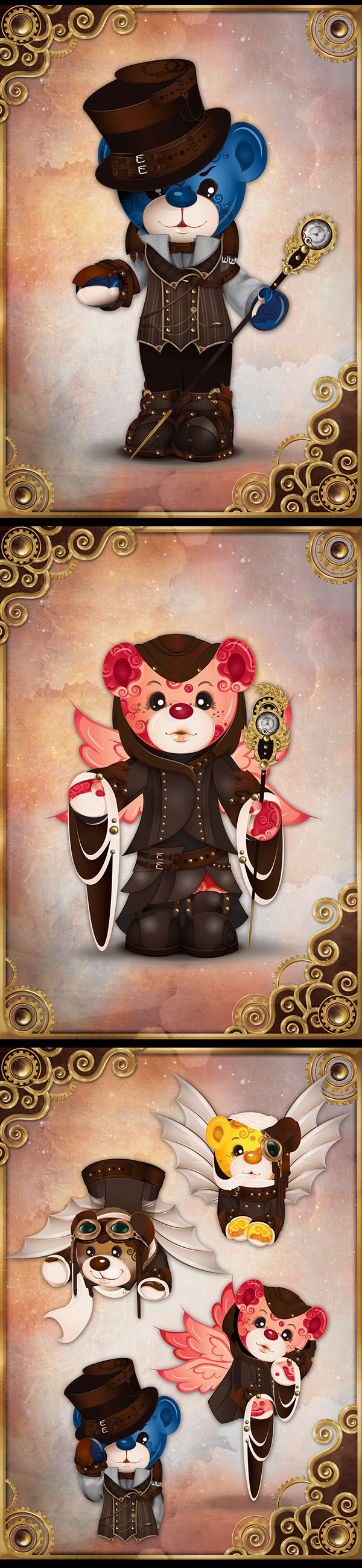 Steampunk bears: character arts