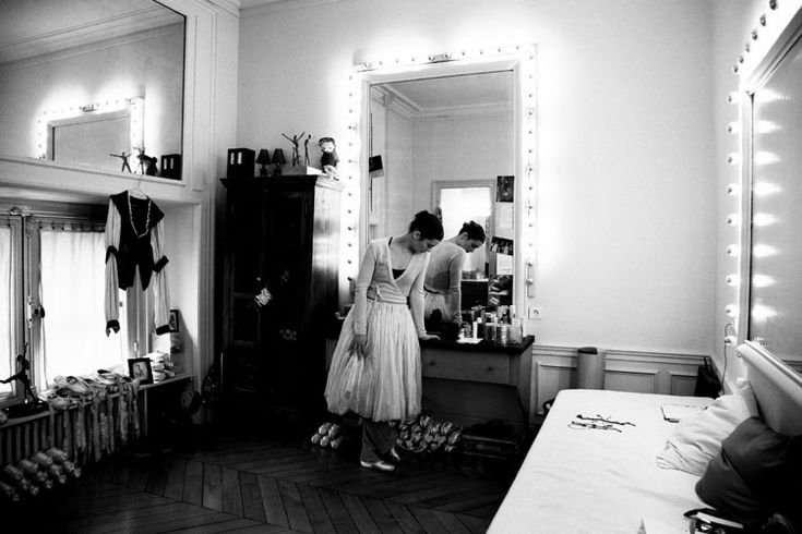 Aurelie Dupont in her dressing room