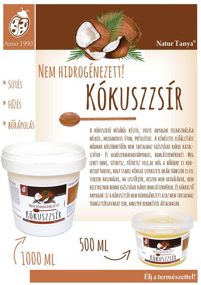 Natur Tanya Kókuszzsír, kókuszolaj
