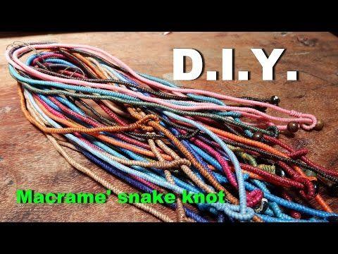 How to make a macrame snake knot Step#5 - YouTube