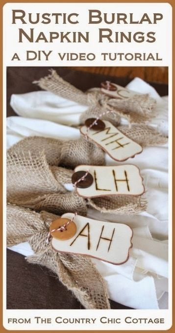 Rustic Burlap Napkin Rings for Thanksgiving | Party Favors, Decorations and Supplies | Scoop.it