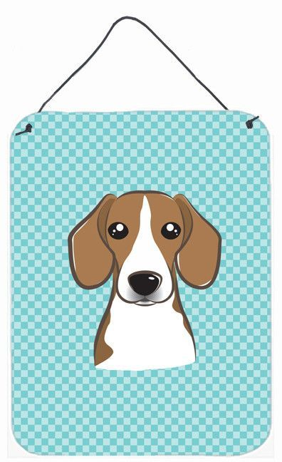 Checkerboard Blue Beagle Wall or Door Hanging Prints BB1177DS1216