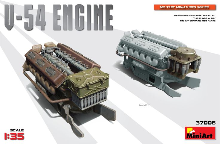 New #MiniArt's Kit In Progress:  37006 V-54 ENGINE http://miniart-models.com/37006/
