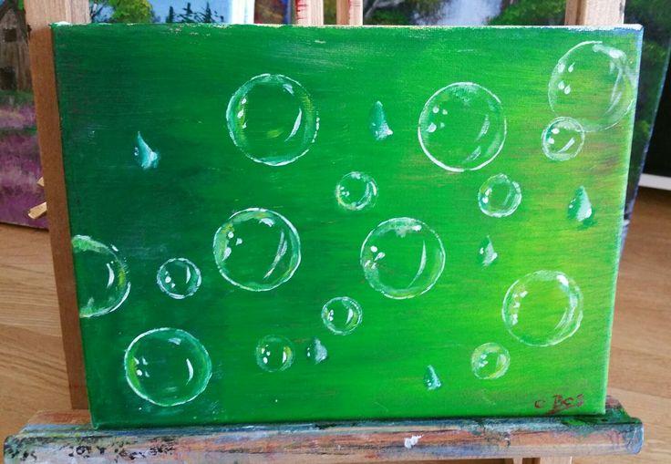 Seifenblasen. ...mit Acryl gemalt