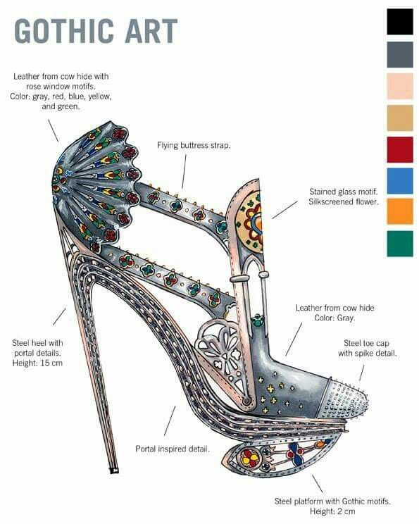 Gothic Shoe Art designed by Nick Adelman| Be Inspirational ❥|Mz. Manerz: Being well dressed is a beautiful form of confidence, happiness & politeness